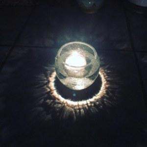 outdoor lighting glass jar
