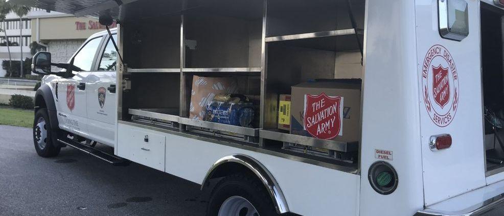 covid-19 relief truck