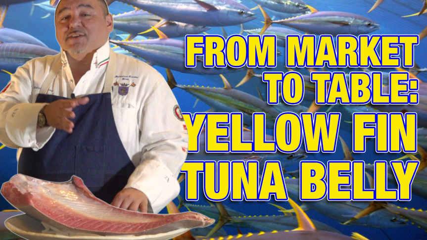 From Market to Table: Yellow Fin Tuna Belly