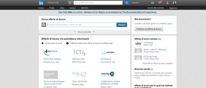linkedin social network lavoro web designer