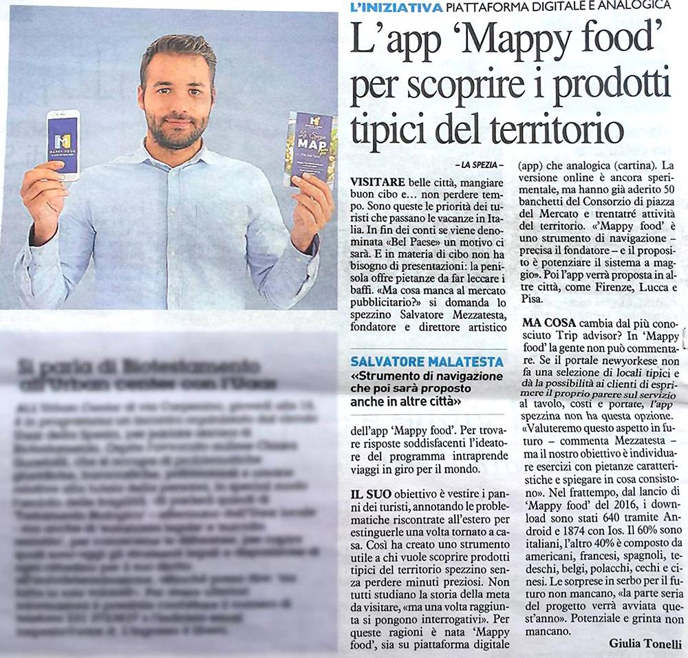 Articolo completo Mappy Food La Nazione