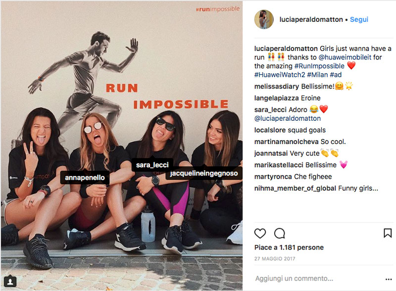 amicizia influencer instagram