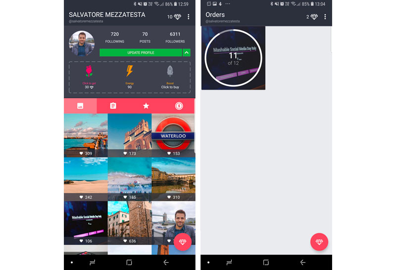 neutrino migliore app android per aumentare follower e like su instagram