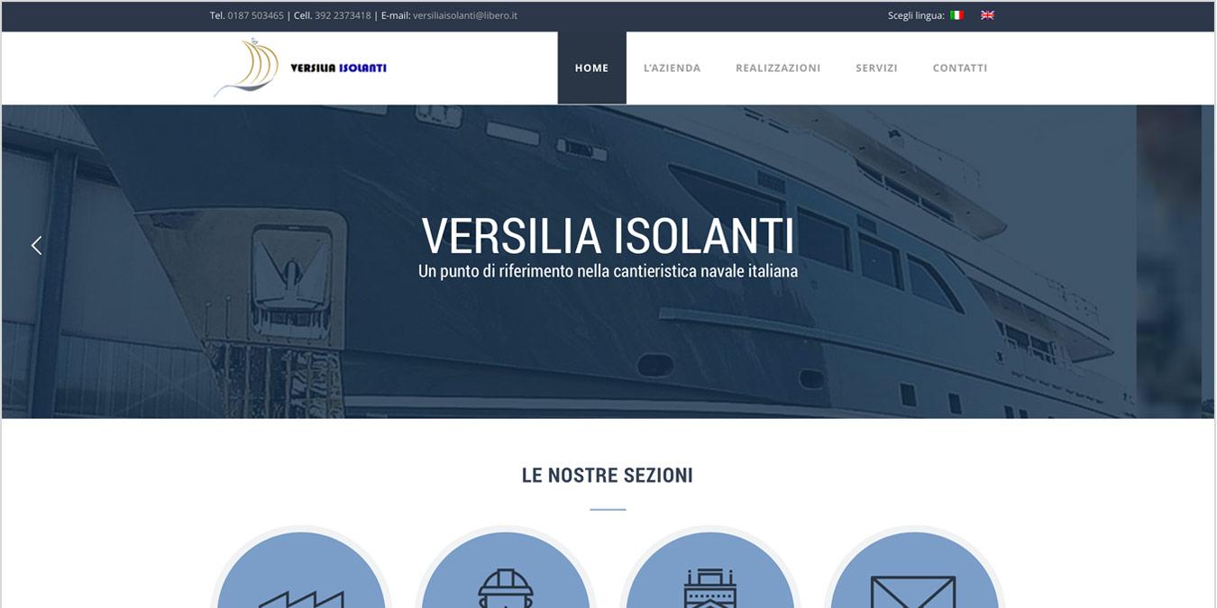 Anteprima realizzazione sito web Versilia Isolanti
