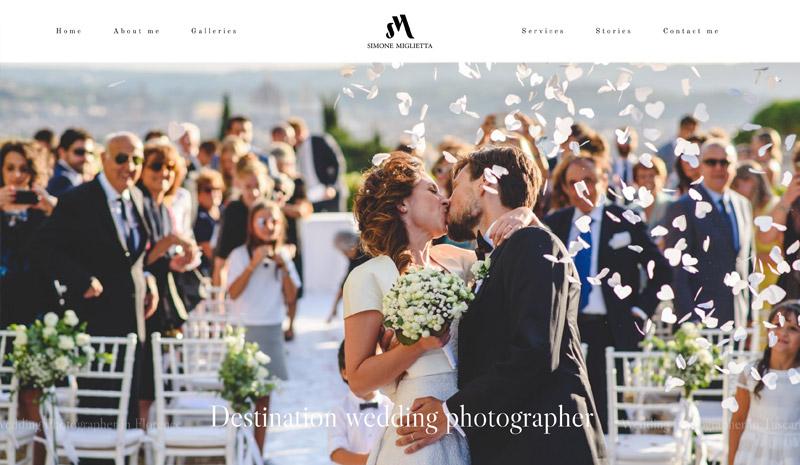 realizzazione sito web simone miglietta wedding photographeredding photog