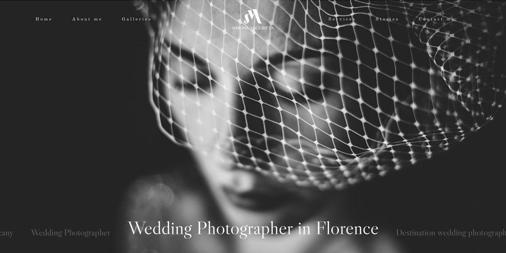 realizzazione sito web simone miglietta wedding photographer