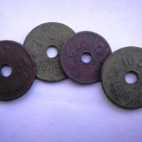 Monede de 10 BANI - 1905 / 1906 şi 5 Bani 1905