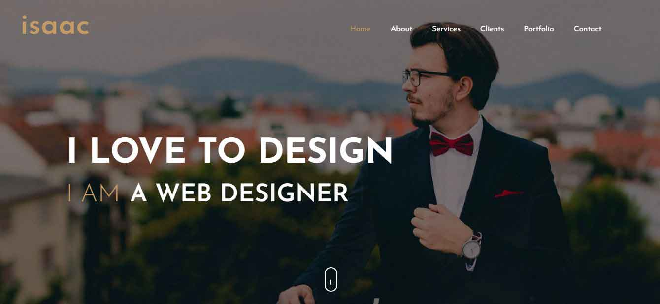 Best Free Isaac One Page Premium Blogger Template 2020