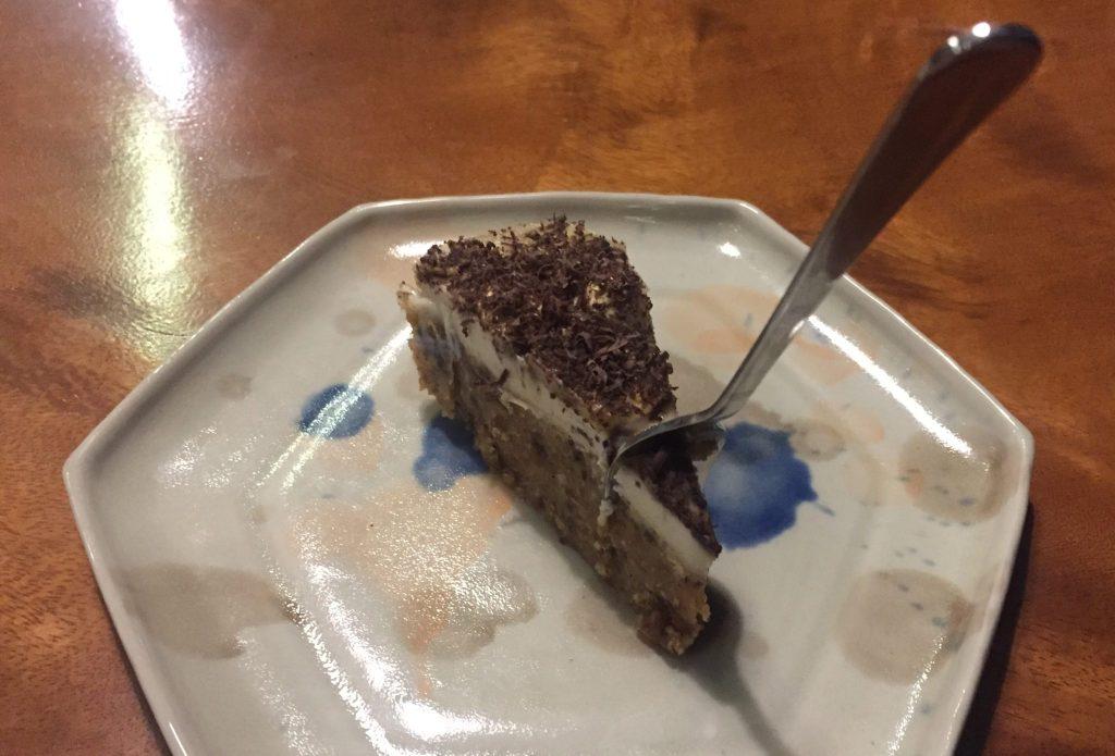 Ungebackener Kuchen im Living Kitchen