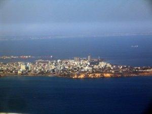 L'arrivée sur Dakar, vue d'avion