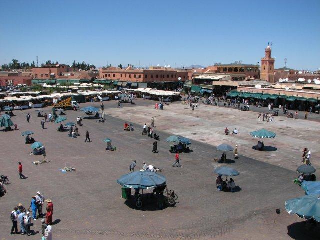 Marrakech, place Jemaa El Fna