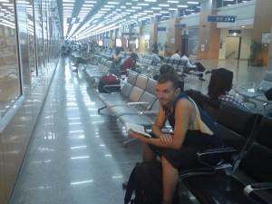 À l'aéroport de Casablanca...