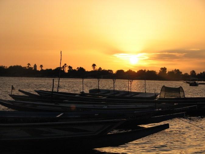 Coucher de soleil sur le Saloum