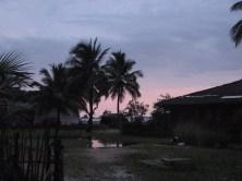 Ciel mauve au crépuscule