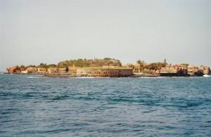 Arrivée sur l'île de Gorée