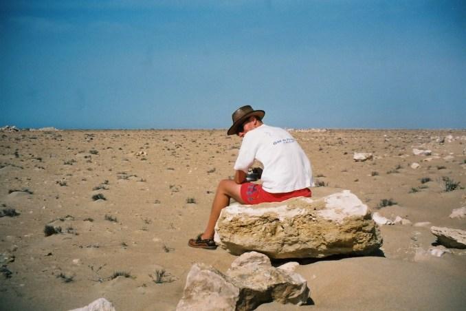 Philou dans le désert...