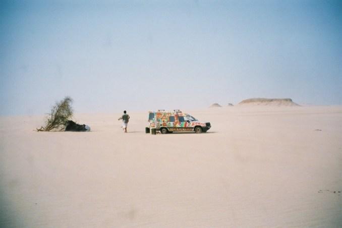 Titine dans le désert mauitanien