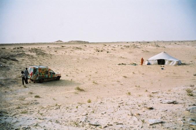 Titine à l'entrée du désert