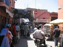 Bouchon à l'entrée des souks de Marrakech