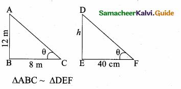 Samacheer Kalvi 10th Maths Guide Chapter 4 Geometry Additional Questions 8