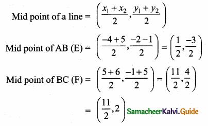Samacheer Kalvi 10th Maths Guide Chapter 5 Coordinate Geometry Ex 5.2 13