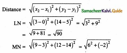Samacheer Kalvi 10th Maths Guide Chapter 5 Coordinate Geometry Ex 5.2 5