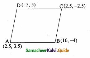 Samacheer Kalvi 10th Maths Guide Chapter 5 Coordinate Geometry Ex 5.2 7