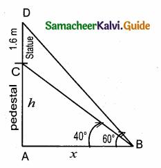 Samacheer Kalvi 10th Maths Guide Chapter 6 Trigonometry Ex 6.2 4