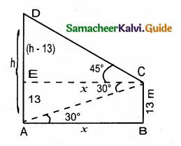 Samacheer Kalvi 10th Maths Guide Chapter 6 Trigonometry Ex 6.4 1