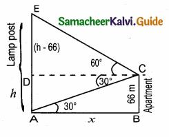Samacheer Kalvi 10th Maths Guide Chapter 6 Trigonometry Ex 6.4 6