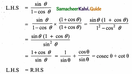 Samacheer Kalvi 10th Maths Guide Chapter 6 Trigonometry Additional Questions 18