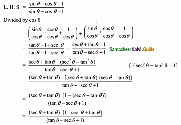 Samacheer Kalvi 10th Maths Guide Chapter 6 Trigonometry Additional Questions 47