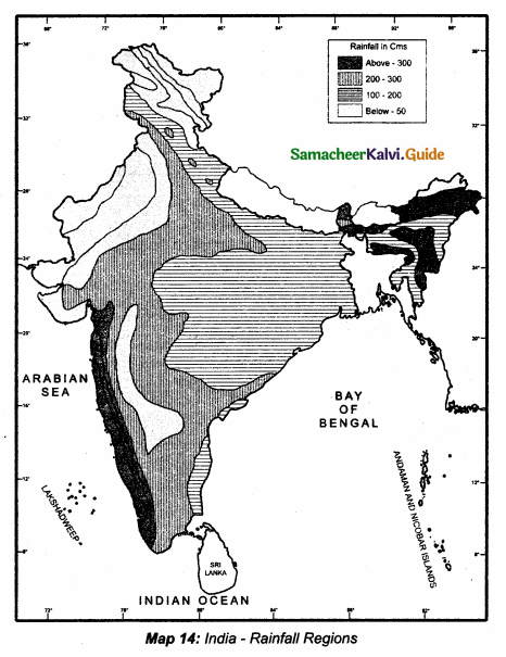 Samacheer Kalvi 10th Social Science Guide Geography Chapter 2 Climate and Natural Vegetation of India 4