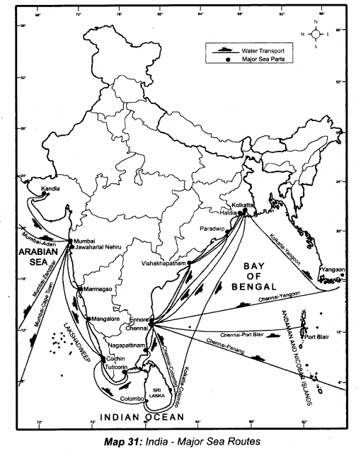 Samacheer Kalvi 10th Social Science Guide Geography Chapter 5 India Population, Transport, Communication, and Trade 4