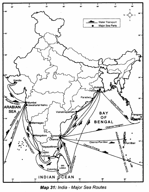 Samacheer Kalvi 10th Social Science Guide Geography Chapter 5 India Population, Transport, Communication, and Trade 7