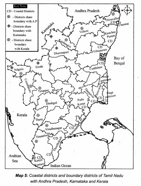 Samacheer Kalvi 10th Social Science Guide Geography Chapter 6 Physical Geography of Tamil Nadu 5