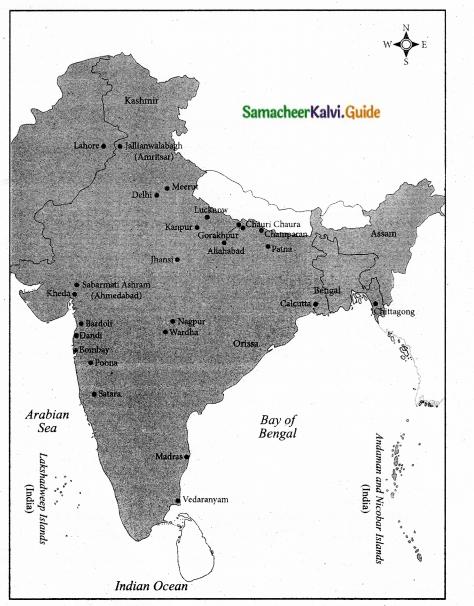 Samacheer Kalvi 10th Social Science Guide History Chapter 8 Nationalism Gandhian Phase 2