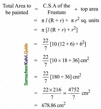 Samacheer Kalvi 10th Maths Guide Chapter 7 Mensuration Ex 7.1 Q10.2