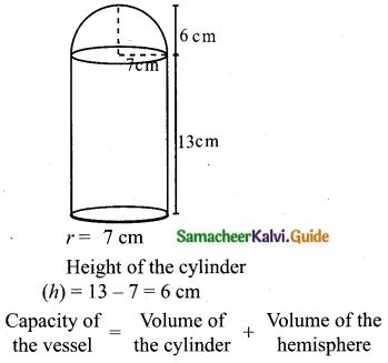 Samacheer Kalvi 10th Maths Guide Chapter 7 Mensuration Ex 7.3 Q1