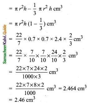 Samacheer Kalvi 10th Maths Guide Chapter 7 Mensuration Ex 7.3 Q3.1