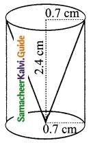 Samacheer Kalvi 10th Maths Guide Chapter 7 Mensuration Ex 7.3 Q3