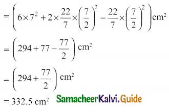 Samacheer Kalvi 10th Maths Guide Chapter 7 Mensuration Ex 7.3 Q6.1