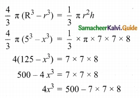 Samacheer Kalvi 10th Maths Guide Chapter 7 Mensuration Ex 7.4 Q4