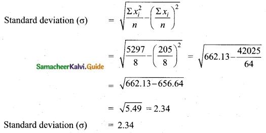 Samacheer Kalvi 10th Maths Guide Chapter 8 Statistics and Probability Ex 8.1 Q4.1