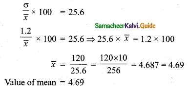 Samacheer Kalvi 10th Maths Guide Chapter 8 Statistics and Probability Ex 8.2 Q2