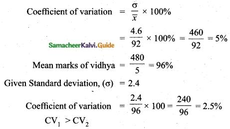 Samacheer Kalvi 10th Maths Guide Chapter 8 Statistics and Probability Ex 8.2 Q7