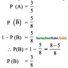 Samacheer Kalvi 10th Maths Guide Chapter 8 Statistics and Probability Ex 8.4 Q10