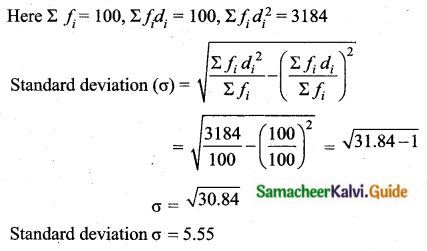 Samacheer Kalvi 10th Maths Guide Chapter 8 Statistics and Probability Unit Exercise 8 Q2.2