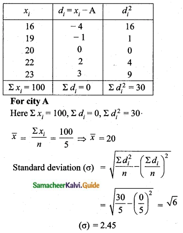 Samacheer Kalvi 10th Maths Guide Chapter 8 Statistics and Probability Unit Exercise 8 Q6.1