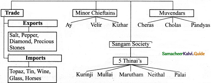 Samacheer Kalvi 6th Social Science Guide History Term 3 Chapter 1 Society and Culture in Ancient Tamizhagam The Sangam Age